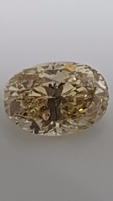 1.00 ct - Oval cut - Brown - VS2