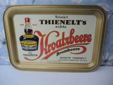 Advertising tray sign - Thienelt - Kroatzbeere, BlackBerry - circa 1956