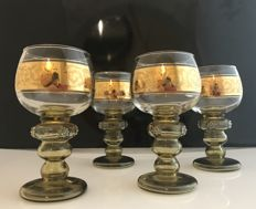 Beautiful goblet in art deco style, richly decorated, gold-plated