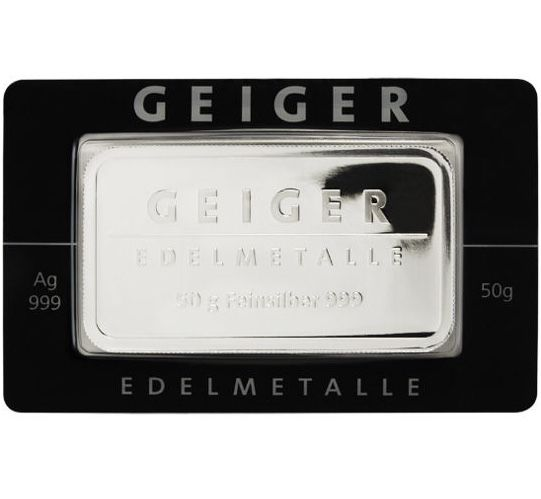 "Germany: Silver bar ""Güldengossa Castle"" - 50 g of 999 silver in coincard"