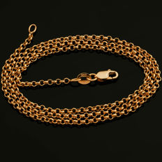 14 Kt Pink / Rose Gold Rolo Chain 55 cm