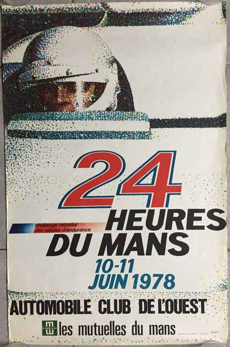 24 hours of le Mans 1978 - French original poster - 1978