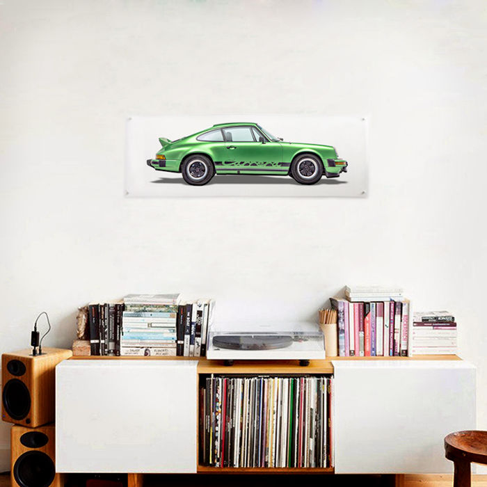 Plexiglass Collection print Porsche 911 Carrera 2.7 - 150 x 50 cm
