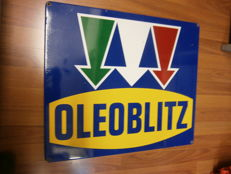 Oleoblitz enamelled sign - 1990s