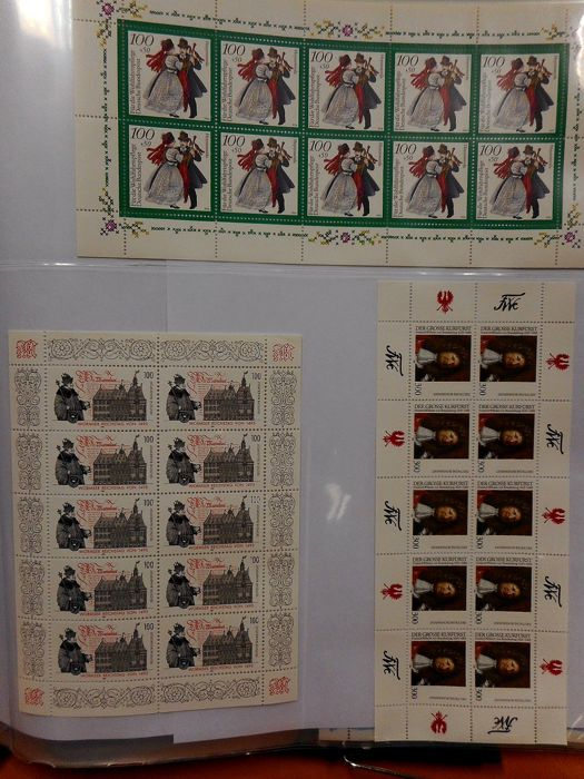 Germany Federal Republic 1980/2014 - in 6 insert albums filled with stamps, and a collection of miniature sheets.