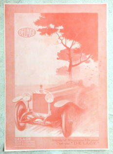 Lot of 4 Automobiles DELAGE press advertising - 1923 to 1931