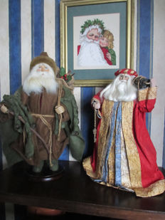 Two beautiful decorative Santa Clauses