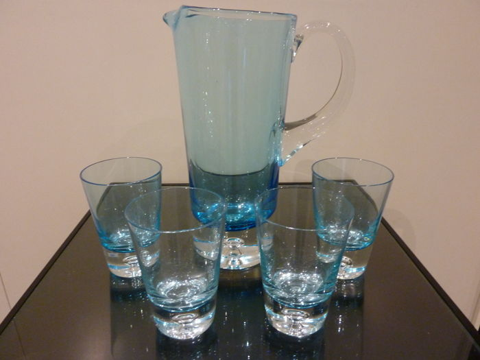 Krosno - Carafe with 4 glasses