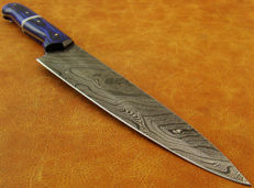 Handmade Damascus Steel Kitchen Knife - 31 CM Long Chef's Knife - 374 True Damascus Layers- Top Quality