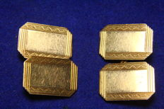 Double face cufflinks in 12 kt gold, 1930s