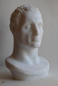 A study of classic male head - Carrara marble