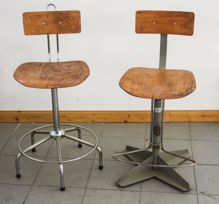 Pair of stools from 1960s, industrial design