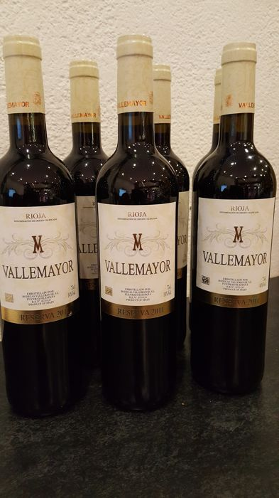 2011 - Vallemayor - Rioja - Reserva - 6 bottels.