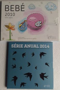 Portugal – Pouch, set of annual coins Euro 2010 Bebé and 2014 BNC