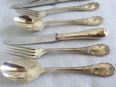 Six person dessert / entree cutlery section, Christofle MARLY, ca 1995