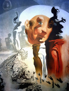 Salvador Dalí (after) - The Whole Dalí in a Face - (see the face of Dalí undercover)
