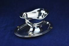 "Christofel FRANCE - Aria Collection Silver-Plated Sauce Boat / ""Sauciere"""