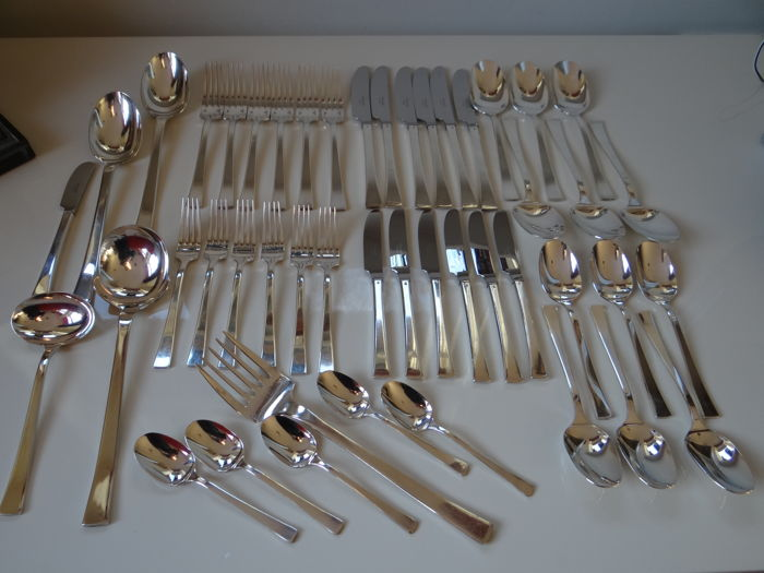 A 6-person, 47-pieced cutlery, Christofle, model Concorde,