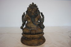Brass Ganesha - Indonesia - Late 20th century