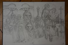 "Pontet, Cyril - original cover sketch - ""Maledictis"" volume 2"