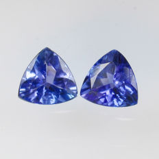 1.38 Ct - Tanzanite Pair - No Reserve Price