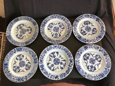 Blue and white porcelain plates - China - 18th century
