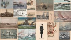 MILITARY - German military navy, ships - Lot of 19 postcards