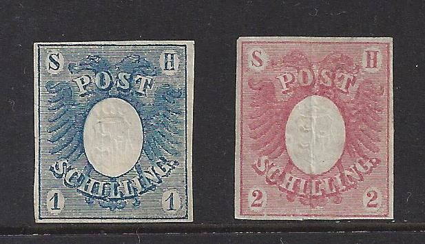 German states, Schleswig-Holstein, 1865 - Michel 1 and 2
