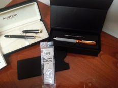 Aurora 88 pen mod. 830 in black resin and gold trims, year 1991 - Pen by Giuliano Mazzuoli Officina Lima-multifunzionale