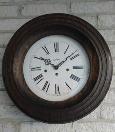 Dutch school clock by Telma with Westminster clockwork movement - 1978