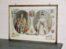 Portrait of the English royal couple, emperors of India