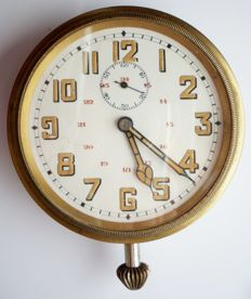WWI - France - Jumbo railway car pocket watch - also acts as an office clock - circa 1900
