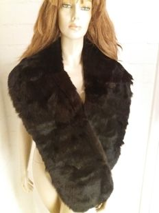 Huge stole from marmot fur, new condition