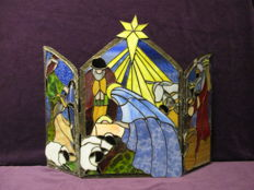 Christmas group, triptych in Tiffany