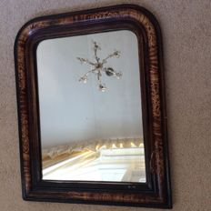 A large rectangular mirror in frame - France - early 20th century