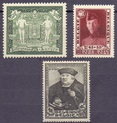 Belgium - 1930/35 - Composition of 2 stamps from blocks 2 and 3 and 4, OBP 301 & 325 & 410