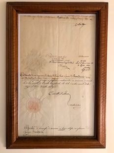 Original signatures of King Charles Felix and King Charles Albert of Savoy - 1829 and 1840