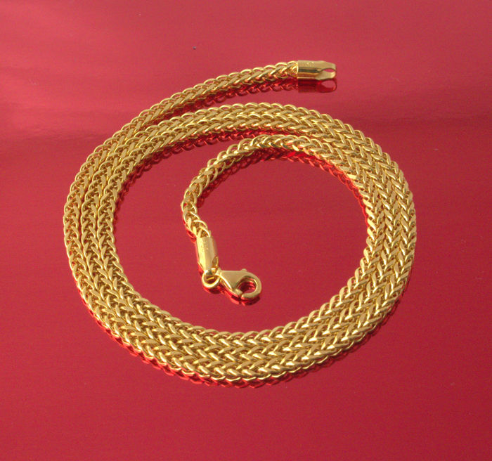 18k Yellow Gold Necklace Palm-Flat - 60 cm - 8.88 gr