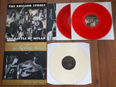 The Rolling Stones- Great lot of 2 limited edition lp's: The Battle Of Milan 2lp (limited, numbered edition of 500 copies on red wax, nr. 284/500) & Nineteen Sixty Nine (on clear wax!)