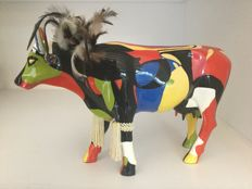 Cow Parade Cowparade - Rickshaw - Large - Resin - retired !