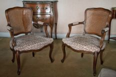 Pair (2 pieces) of Louis XV armchairs