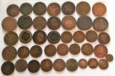 France - Lot de 40 coins (1 centime to 10 centimes) 1795/1920