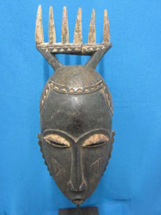 Comb mask BAOULE - Ivory Coast, 2nd half 20th century