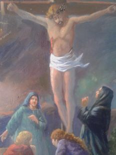 Anonymous (20th century) - Crucifixion, Adoration