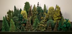 Faller/Noch/Busch H0 - Scenery - 80 pieces construction kit trees
