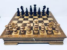 Old great Regence chess with board and facsimile Pilidor 1870