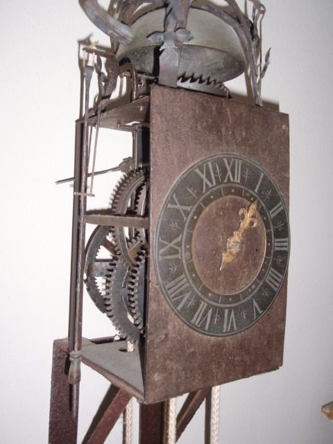 "Iron Casing TImepiece - ""Horloge Domestique en Fer"" - mid 17th Century from France"