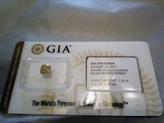 1.24 ct GIA Certified Natural Fancy Deep Orange-Yellow Diamond – LOW RESERVE