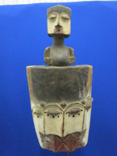 Mask with three faces Galoa - Gabon, 2nd half 20th century