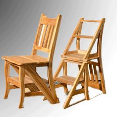 Chair-ladder - Olive wood - slightly pickled